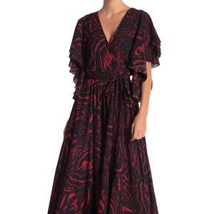 Meghan LA Dresses - MEGHAN LA Flutter Sleeve Maxi Dress